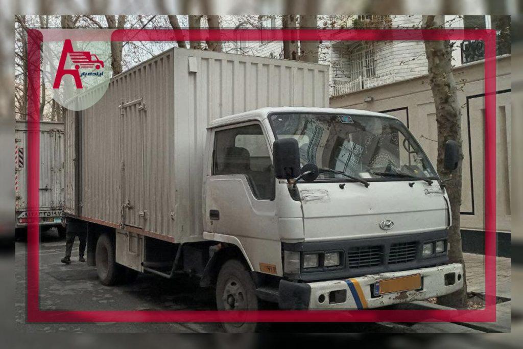 باربری ولنجک شرکت آینده بار در شمال تهران
